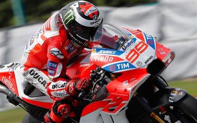 Download wallpapers 4k, Jorge Lorenzo, close-up, MotoGP, 2017 bikes, sportbikes, Ducati Corse ...