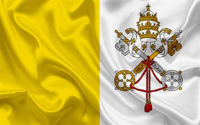flag of the Vatican, Vatican, Europe, Vatican flag, Rome, Italy