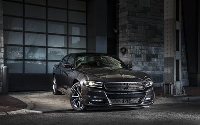 Dodge Charger R-T, sports sedan, tuning Charger, black wheels, exterior, American cars, Dodge