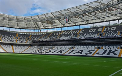 Vodafone Arena, football stadium, stands, new stadium, Istanbul, Turkey, Besiktas, Vodafone Park, new sports arenas
