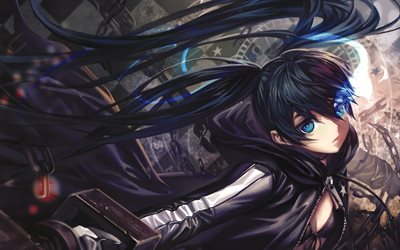 Mato Kuroi, manga, blue eyes, darkness, Black Rock Shooter