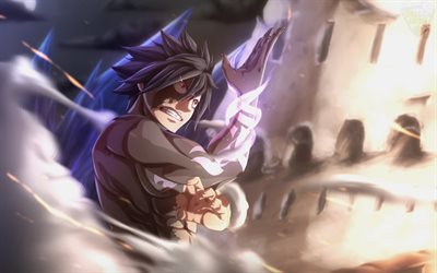 Gray Fullbuster, fan art, Fairy Tail, mage, artwork, manga, Gurei Furubasuta