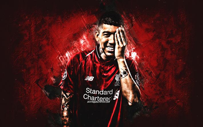 Download Wallpapers Roberto Firmino, Liverpool FC