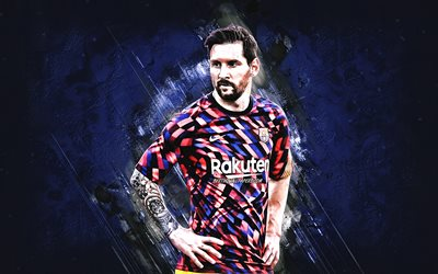 Download Wallpapers Lionel Messi Fc Barcelona Argentine Footballer 2021 Barcelona Uniforms Football Spain Leo Messi For Desktop Free Pictures For Desktop Free
