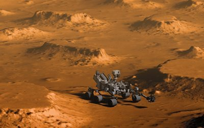 Mars rover, Curiosity, Mars, open space