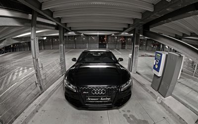 Audi RS5, tuning, parking, supercars, black audi