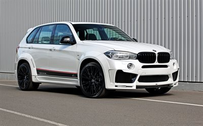 BMW X5, F15, Lumma Design, white BMW, tuning X5, crossover, white X5