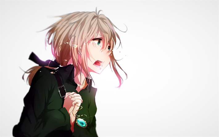 Anime Characters Crying : Download wallpapers violet evergarden cry manga anime characters