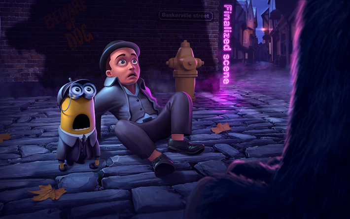 sherlock holmes minion, kreativ, 3d-animation, despicable me minions