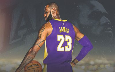 LeBron James, American basketball player, forward, Los Angeles Lakers, NBA, USA, portrait, basketball, LA Lakers