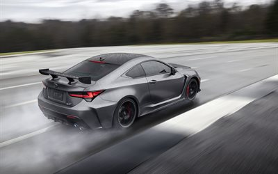 Lexus RC F, Track Edition, 2019, gray sports coupe, tuning, new gray RC F, japanese cars, Lexus