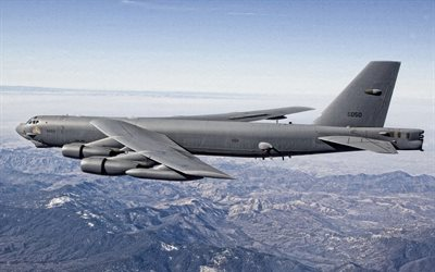 Boeing B-52 Stratofortress, american strategic bomber, US Air Force, NASA, american combat aircraft, Boeing