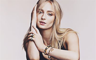 4k, Sophie Turner, 2019, l'attrice inglese, Louis Vuitton photoshoot, bellezza, britannica di celebrità, Sophie Belinda Jonas, Hollywood, Sophie Turner servizio fotografico