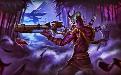 Jhin, MOBA, League of Legends, 2020 games, monsters, artwork, Jhin League of Legends