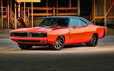 Dodge Charger, retro cars, 1969 cars, muscle cars, 1969 Dodge Charger, american cars, Dodge