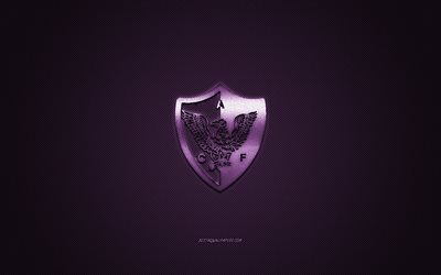 Centro Atletico Fenix, Uruguayan football club, Uruguayan Primera Division, purple logo, purple carbon fiber background, football, Montevideo, Uruguay, Centro Atletico Fenix logo, CA Fenix
