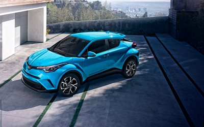 Toyota C-HR, 2020, front view, exterior, new blue C-HR, compact crossovers, japanese cars, Toyota