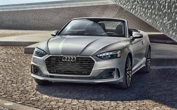 Audi A5 Cabriolet, 4k, supercars, 2020 cars, cabriolets, luxury cars, 2020 Audi A5 Cabriolet, german cars, Audi, HDR