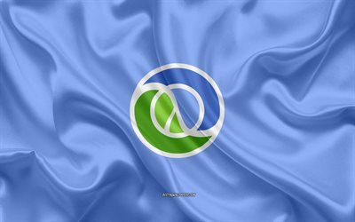 Clojure logo, silk texture, Clojure emblem, programming language, Clojure, silk background