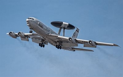 Boeing E-3 Sentry, airborne early warning and control aircraft, US Air Force, NATO, USA, Military aircraft, Boeing
