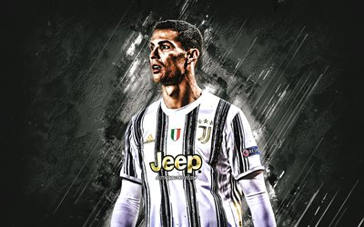 Cristiano Ronaldo, CR7, Portuguese footballer, Juventus FC, world football star, portrait, Italy, football, Serie A