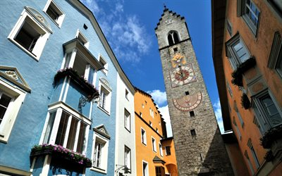 Sterzing, Vipiteno, The Zwolferturm, chapel, beautiful buildings, Sterzing cityscape, South Tyrol, Italy