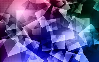 4k, colorful abstract background, artwork, geometric shapes, creative, squares, triangles, colorful backgrounds