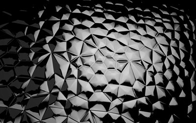 black crystals background, geometric shapes, crystals patterns, background with crystals, geometric patterns, black backgrounds, crystals textures