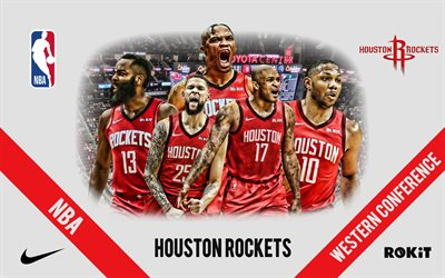 houston rockets, nba, amerikanischer basketballclub, houston rockets-logo, basketball, russell westbrook, james harden, austin rivers