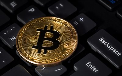 bitcoin, crypto currency, electronic money, currency, keyboard, gold coin