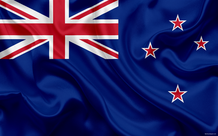 Download Wallpapers Flag Of New Zealand 4k National Flag Symbols