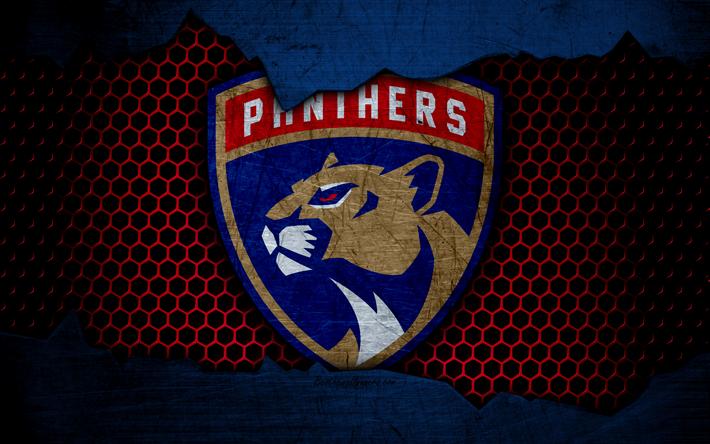 download wallpapers florida panthers 4k logo nhl
