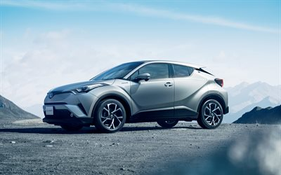 Toyota C-HR, 2018, 4k, silver crossover, new cars, silver C-HR, Japanese cars, Toyota