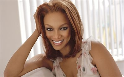 Tyra Banks, 4k, portrait, American supermodel, American celebrities, beautiful woman, Tyra Lynne Banks