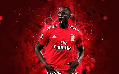 Alfa Semedo, abstract art, Bissau-Guinean footballers, Benfica FC, Primeira Liga, Semedo, football, neon lights, soccer