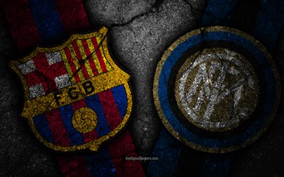 Barcelona vs Internazionale, Champions League, Group Stage, Round 3, creative, Inter Milan FC, Barcelona FC, black stone