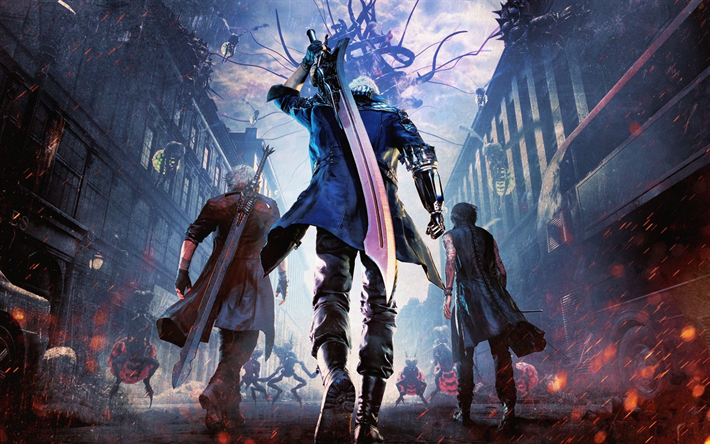 Download Wallpapers Devil May Cry 5 Demons Art Anime