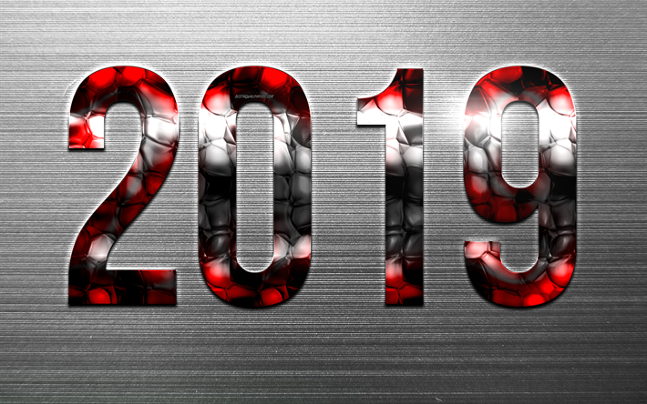 Gate Result 2019 Date Wallpaper: Download Wallpapers 2019 Year, Creative Digits, Glass