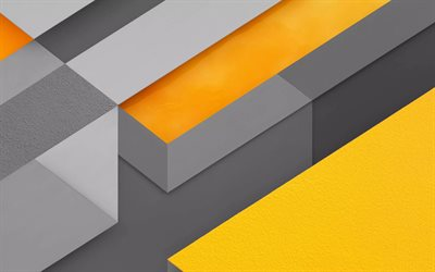 yellow-gray abstract background, material design, creative geometric background, abstract art