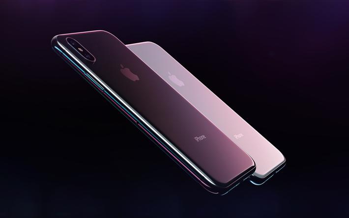 Download Wallpapers Apple Iphone X Modern Samrfton 4k