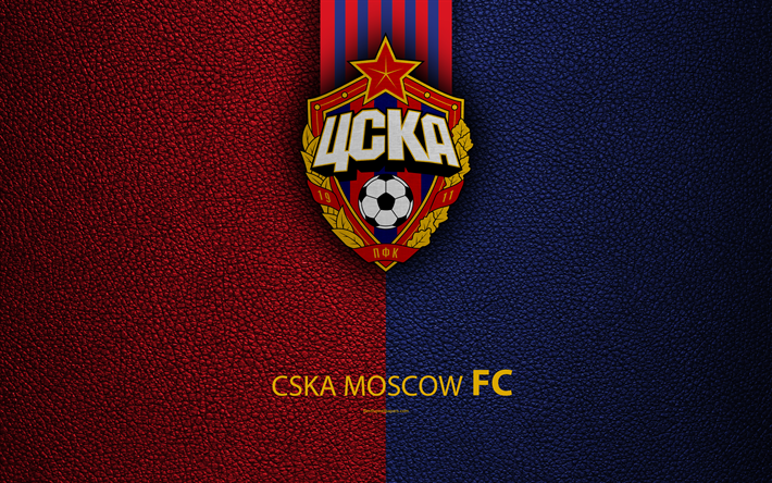 Download Wallpapers CSKA Moscow FC, 4k, Logo, Russian