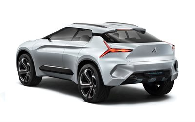Mitsubishi e-Evolution, 4k, rear view, electric crossover, concepts, Japanese cars, Mitsubishi