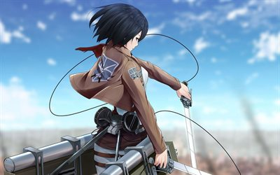 Mikasa Ackerman, art, manga, Attack on Titan, Shingeki no Kyojin