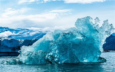 Iceberg, Arctic Ocean, waves, ice, water concepts, large iceberg
