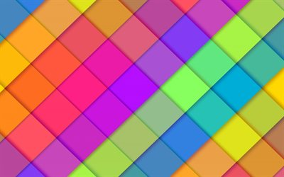 colorful rhombuses, material design, colorful lines, geometric shapes, lollipop, geometry, creative, colorful backgrounds