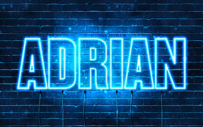 Download Wallpapers Adrian, 4k, Wallpapers With Names