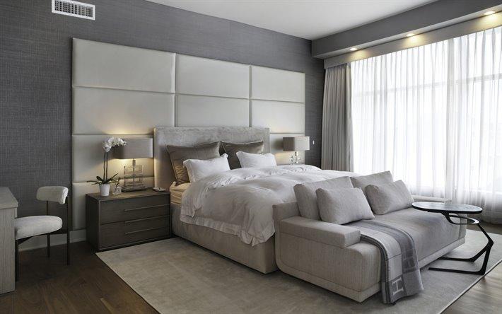 Herunterladen hintergrundbild grau-stilvolle-schlafzimmer ...