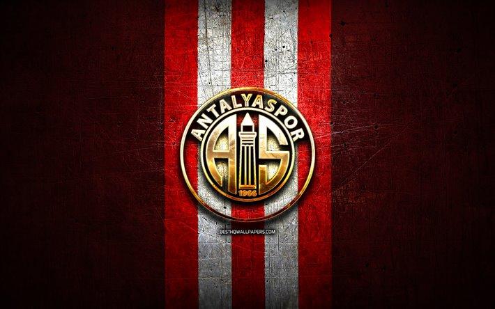Download Wallpapers Antalyaspor FC Golden Logo Turkish