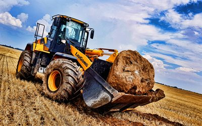LiuGong CLG 856H, 4k, front loader, 2020 tractors, agriculture concepts, construction machinery, loader in career, special equipment, construction equipment, LiuGong, HDR
