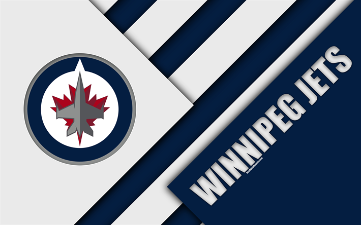 Descargar Fondos De Pantalla Winnipeg Jets Nhl 4k Diseño